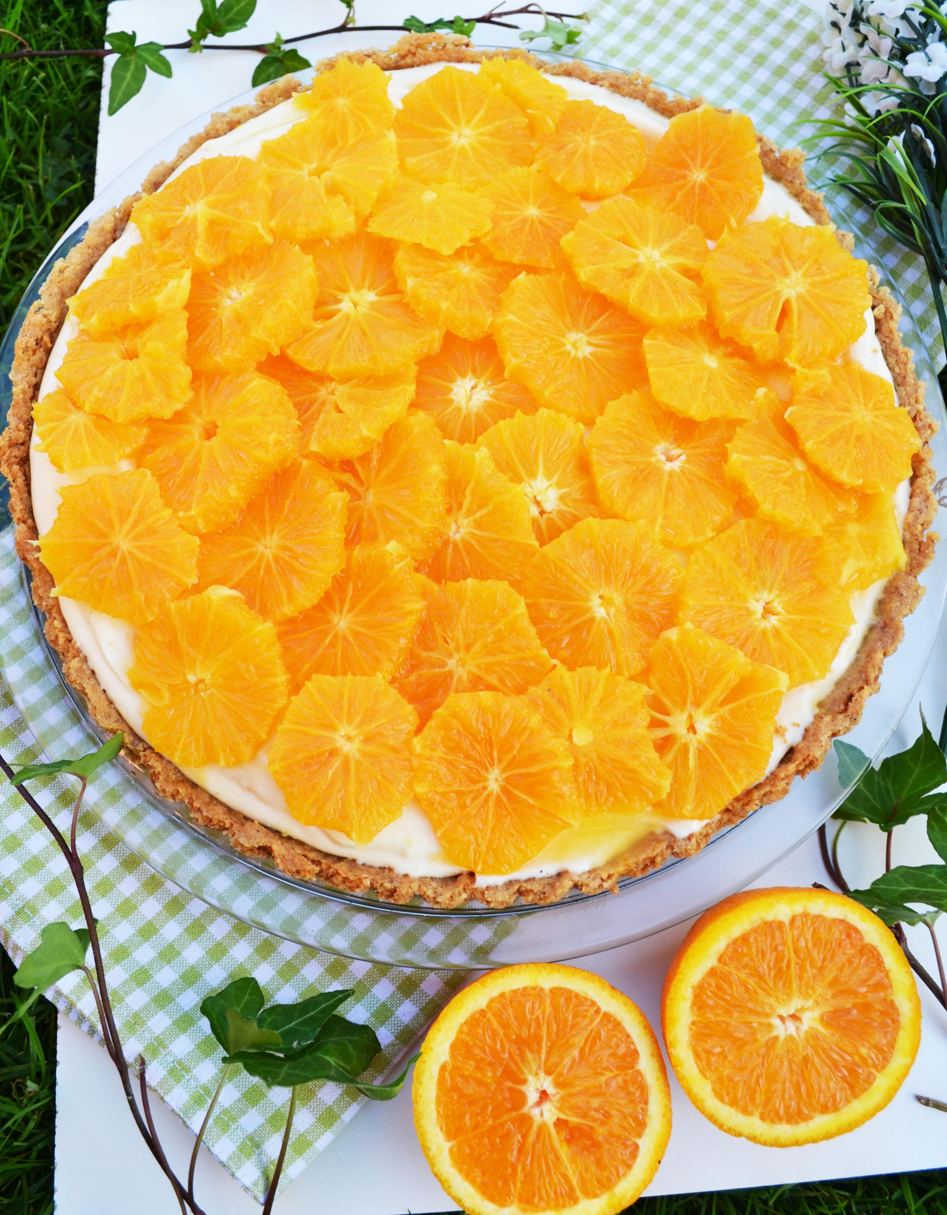 fruchtig leicht und lecker orangen joghurt tarte. Black Bedroom Furniture Sets. Home Design Ideas