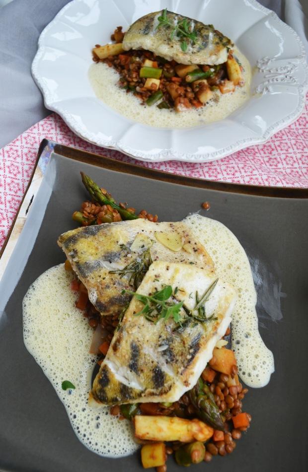 Die Kombination von Fisch und Senfsauce ist einfach unglaublich lecker ...